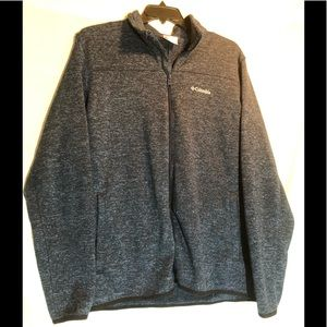 Columbia full zip sweater size XL